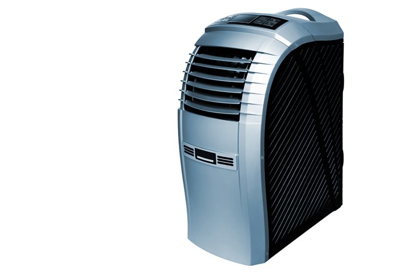 modern mobile air-conditioner on a white background