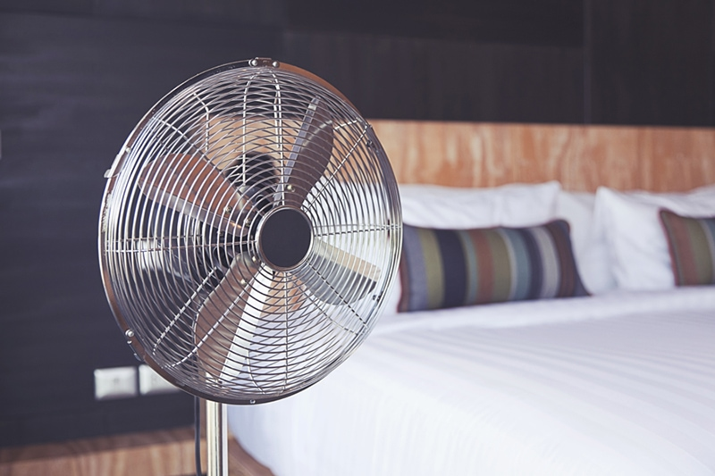 Electric Fan in Room