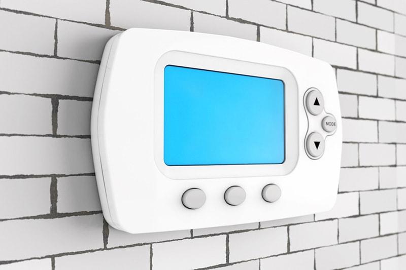 Blank white thermostat