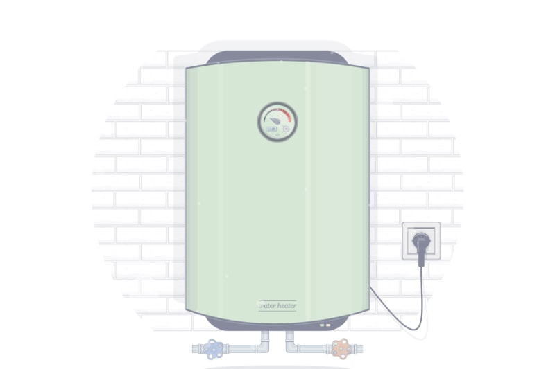 tankless water heater graphic