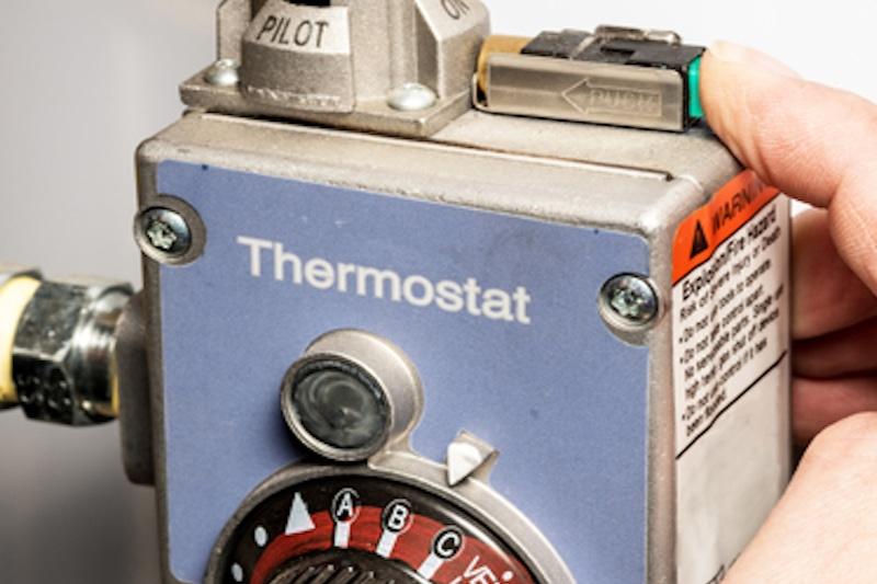 pilot light on thermostat