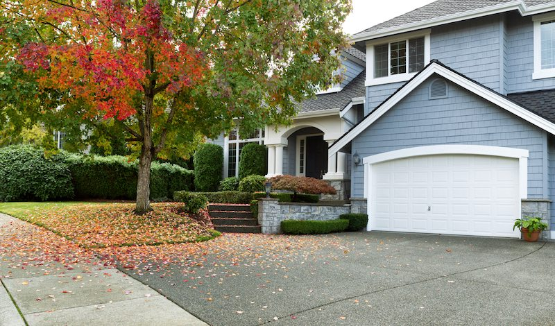 Fall indoor air quality maintenance at a blue house in Hudson